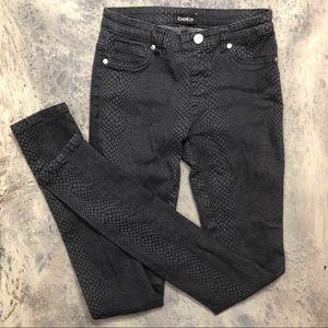 BEBE Snakeskin Scale Leggings Jeans